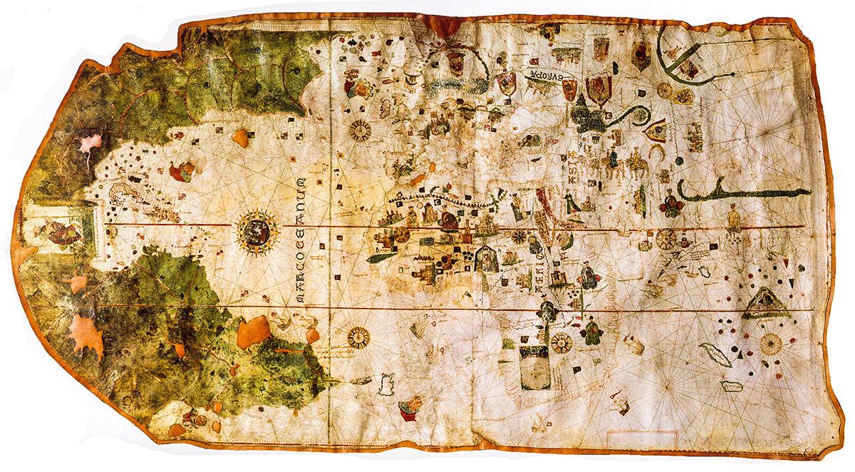 Первая карта мира с очертаниями Америки, Хуан де ла Коса